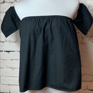👠Cotton On - Off Shoulder Black Top Size Small